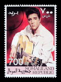 Elvis Presely Postage Stamp Royalty Free Stock Images