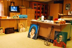 Elvis Presley`s office, Graceland, Memphis. The office of Elvis Presley looks almost as it did near the end of his life royalty free stock images