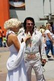 Elvis Presley和玛里琳・门罗 免版税图库摄影