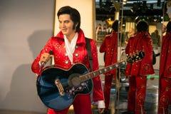 Elvis Presley в музее Grevin диаграмм воска в Праге Стоковое Изображение