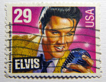 Elvis presley. United States postage stamp honoring elvis presley Stock Photo