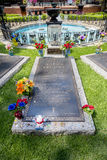 Elvis Presley Burial bei Graceland Lizenzfreies Stockfoto