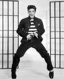 Elvis Presley dancing in jail Royalty Free Stock Image