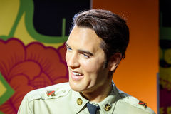 Elvis Presley Figurine At Madame Tussauds-Wachs-Museum Stockfotos