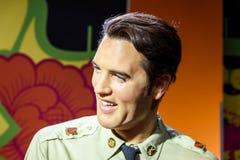 Elvis Presley Figurine At Madame Tussauds-Wasmuseum stock foto's