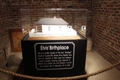 Elvis Presley Graceland. Elvis Birthplace replica model home display stock photos