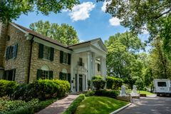 Elvis Presley Graceland Mansion in Memphis. The house Elvis called home in Memphis, Tennessee royalty free stock photo