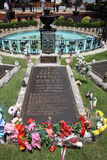 Elvis Presley grave. In his beloved Graceland Mansion in Memphis, Tennessee, US Stock Image
