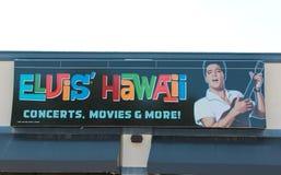 Elvis Presley Hawaii Graceland Concert Sign Fotografía de archivo libre de regalías