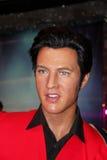 Elvis Presley. London, - United Kingdom, 08, July 2014. Madame Tussauds in London. Waxwork statue of Elvis Presley. Created by Madam Tussauds in 1884. Madam royalty free stock photography
