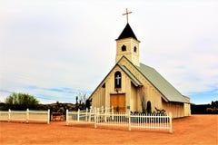 Elvis Presley Pamiątkowa kaplica, przesądu Halny muzeum, Apache złącze, Arizona obraz stock