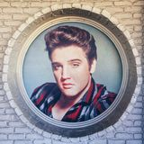 Elvis Presley. Picture in Graceland Stock Photos