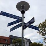 Elvis Presley Platz singnpost zdjęcie royalty free