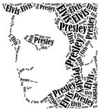 Elvis Presley portrait. Word cloud illustration. Stock Photos