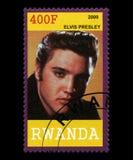 Elvis Presley Postage Stamp from Rwanda Stock Photos