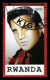 Elvis Presley Postage Stamp from Rwanda Royalty Free Stock Images