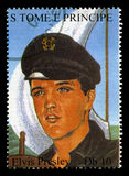 Elvis Presley Postage Stamp from S. Tome E Principe Stock Images