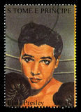 Elvis Presley Postage Stamp from S. Tome E Principe Royalty Free Stock Photography