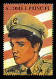 Elvis Presley Postage Stamp from S. Tome E Principe Stock Photos