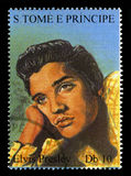 Elvis Presley Postage Stamp from S. Tome E Principe Royalty Free Stock Photo