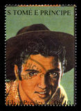 Elvis Presley Postage Stamp from S. Tome E Principe Royalty Free Stock Image