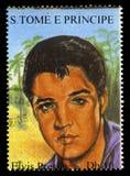 Elvis Presley Postage Stamp from S. Tome E Principe Stock Image