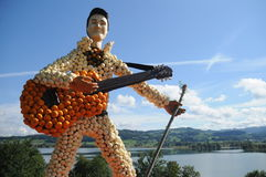 Elvis Presley Pumpkin Sculpture images libres de droits