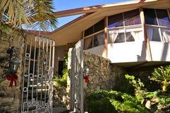 Elvis Presley-` s Flitterwochen-Haus, Palm Springs Stockbild