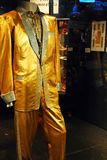 Elvis Presley`s gold suit royalty free stock photography