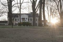 Elvis Presley`s Graceland at sunrise stock image