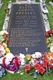 Elvis Presley's Grave, Graceland, TN. The Grave of Elvis Presley at Graceland, TN Royalty Free Stock Photography