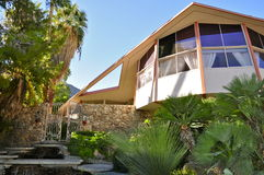 Elvis Presley`s Honeymoon House, Palm Springs. Elvis Presley`s Honeymoon House on 1350 Ladera Circle, Palm Springs, CA 92262 Royalty Free Stock Photos