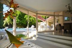 Elvis Presley ` s miesiąca miodowego dom, palm springs fotografia royalty free