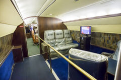 Elvis Presleys Private Airplane Lounge Area. Lounge area of Elvis Presley's private airplane, the Lisa Marie Stock Image
