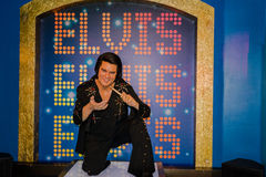 Elvis Presley in scena Fotografie Stock Libere da Diritti
