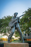 Elvis Presley Statue in Memphis. MEMPHIS, USA - NOV 13: Elvis Presley Statue in Elvis Presley Plaza, Memphis, TN on November 13, 2016 Royalty Free Stock Images