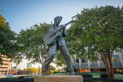 Elvis Presley Statue in Memphis. MEMPHIS, USA - NOV 13: Elvis Presley Statue in Elvis Presley Plaza, Memphis, TN on November 13, 2016 Stock Images
