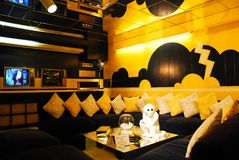 Elvis Presley TV pokój w Graceland zdjęcie royalty free