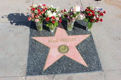 Elvis presley. Walk of fame tribute for Elvis Presley Stock Photography