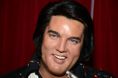 Elvis Presley. Wax statue of Elvis Presley, Hollywood celebrity and singer, image taken at the Madame Tussauds museum at Las Vegas Royalty Free Stock Photo