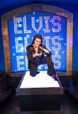 Elvis Presley. A wax statute of The King Elvis Presley at Madame Tussauds wax museum attraction in Las Vegas, Nevada Stock Image