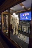 Elvis Presley White Stage Uniform From His 1969 Return To The Stage Performance. On Display At Graceland stock photo