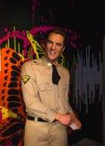 Elvis Presley, wosk postać w Madame Tussauds muzeum w Wiedeń, obraz stock