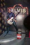 Elvis Presley wosku postać przy wosku muzeum fotografia stock