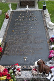 Elvis Presleys grave Royalty Free Stock Photos