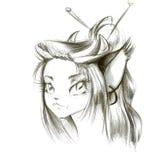 Elvish young girl Stock Photos