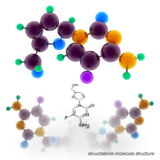 Elvucitabine molecule structure Royalty Free Stock Photography