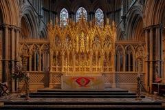 ELY, CAMBRIDGESHIRE/UK - 24 DE NOVEMBRO: Opinião interior Ely Cath Fotografia de Stock Royalty Free