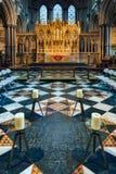 ELY, CAMBRIDGESHIRE/UK - 24 DE NOVEMBRO: Opinião interior Ely Cath Imagem de Stock Royalty Free