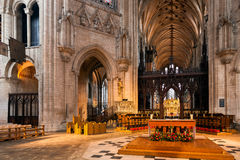 ELY, CAMBRIDGESHIRE/UK - 24 DE NOVEMBRO: Opinião interior Ely Cath Foto de Stock Royalty Free